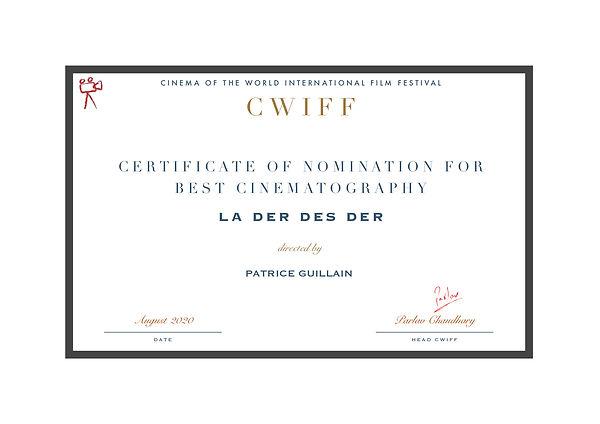 1.7 Nominee - Best Cinematography - LA D