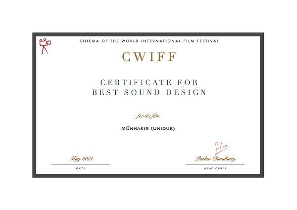 14.1 Best Sound Design - Münhasır (Uniqu