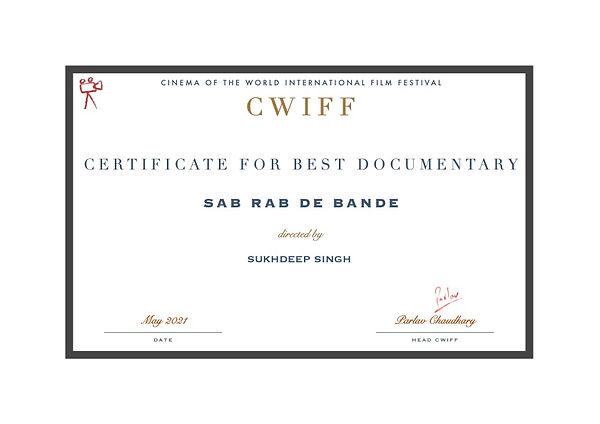 6. Best Documentary - Sab Rab De Bande.j