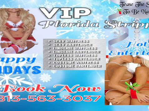 Holiday Party Strippers 2020 | Tampa, FL | Topless Bartender + Sexy Waitress + Private Parties