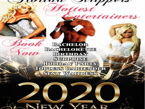 Happy New Year's 2020 Holiday Strippers | Tampa, FL | VIP Florida Strippers 813-563-3037