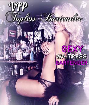 Female Topless Bartender