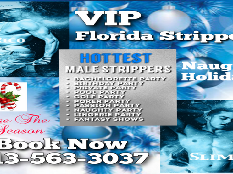 Holiday Male Strippers | Tampa, FL | Bachelorette + Birthday + Bartender + Waiter + Private Parties