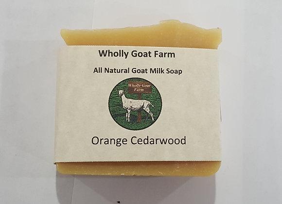 Goat Milk Soap - Orange Cedarwood