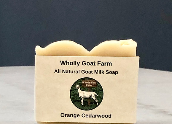 Goat Milk Soap - Orange Cedarwood