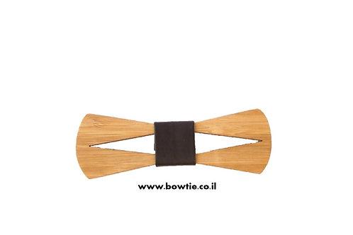 עניבת פפיון עץ צורה גיאומטרית