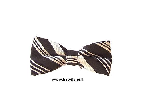 עניבת פפיון רטרו שחור לבן