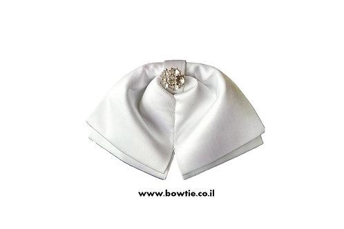 עניבת פפיון ווסטרן לבנה יהלום