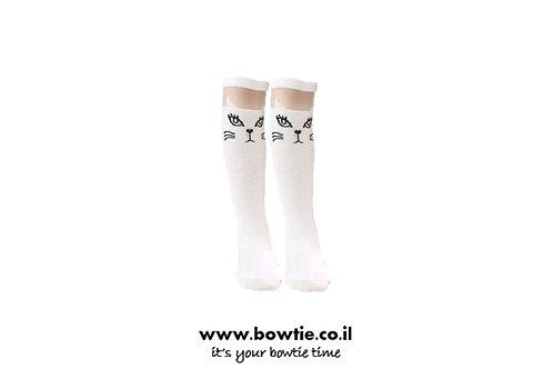 גרביים חתול שחור | לבן