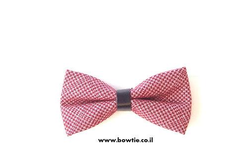 עניבת פפיון אדומה חבק שחור