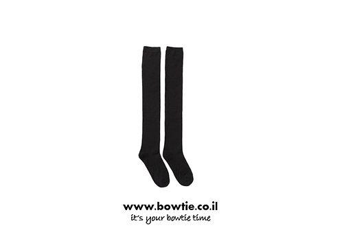 גרביים ברך שחור | לבן