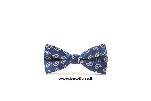 עניבת פפיון כחולה טיפות