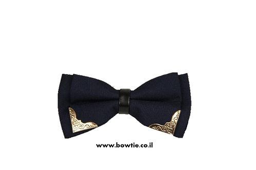 עניבת פפיון שחורה עיטורי זהב