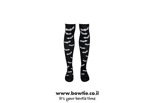 גרביים ברך שחורים עטלף