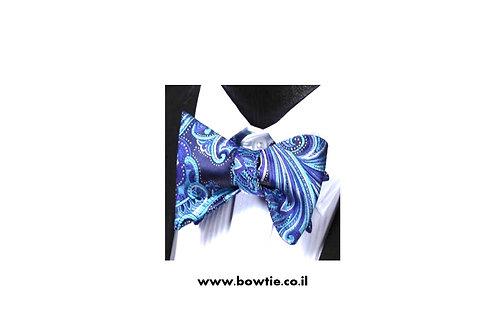 עניבת פפיון קשירה כחולה רטרו