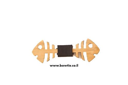 עניבת פפיון עץ דגים