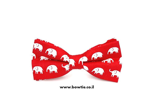 עניבת פפיון אדומה פילים