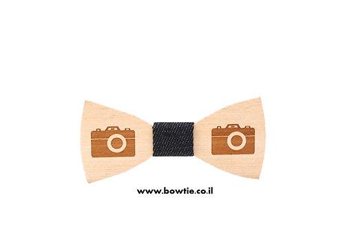 עניבת פפיון עץ מצלמה