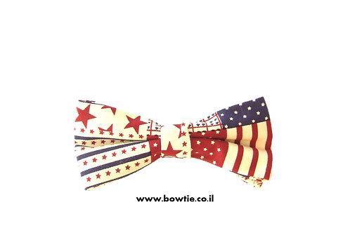 """עניבת פפיון דגל ארה""""ב"""