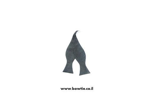 עניבת פפיון קשירה שחורה עיטורים