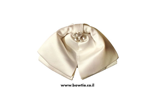 עניבת פפיון ווסטרן שמנת יהלום