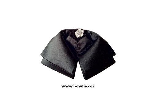 עניבת פפיון ווסטרן שחורה יהלום