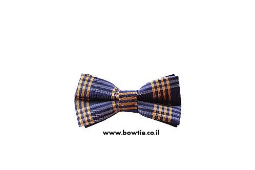 עניבת פפיון כחול כתום פסים