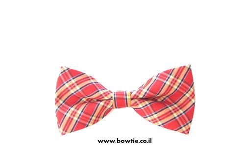 עניבת פפיון אדומה סקוטית