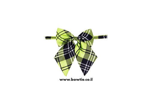 עניבת פפיון פרפר ירוק סקוטי