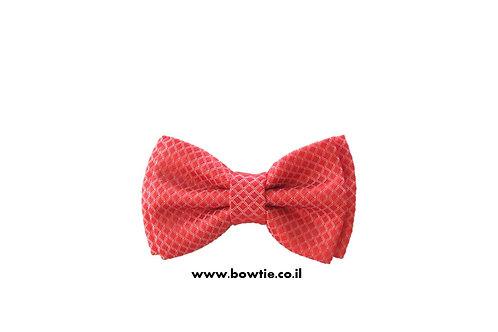 עניבת פפיון אדומה מרקם מחוספס