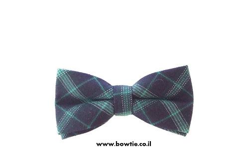 עניבת פפיון צמר שחורה סקוטית