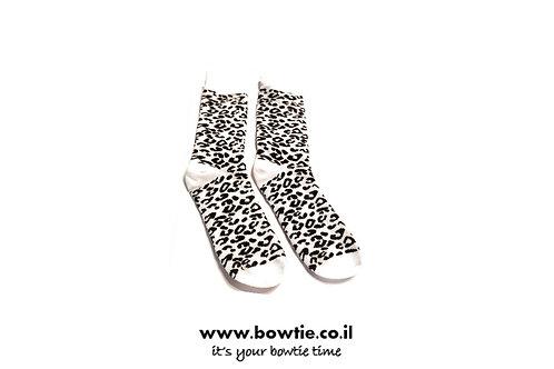 גרביים חברבורות שחור לבן