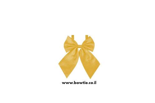 עניבת פפיון פרפר צהובה