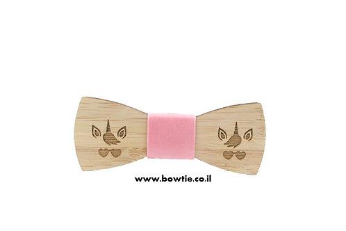 עניבת פפיון עץ חד קרן