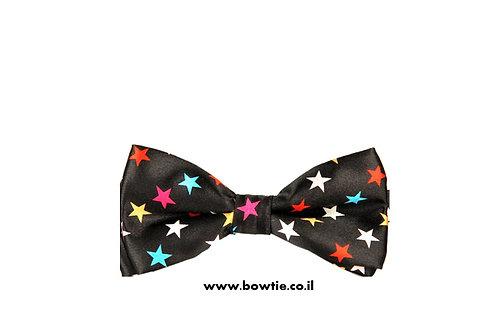 עניבת פפיון שחורה כוכבים