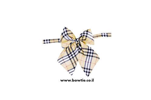 עניבת פפיון פרפר אופווייט שחור סקוטי