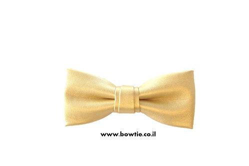 עניבת פפיון דמוי עור זהב