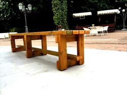 ספסל לוחות אורן