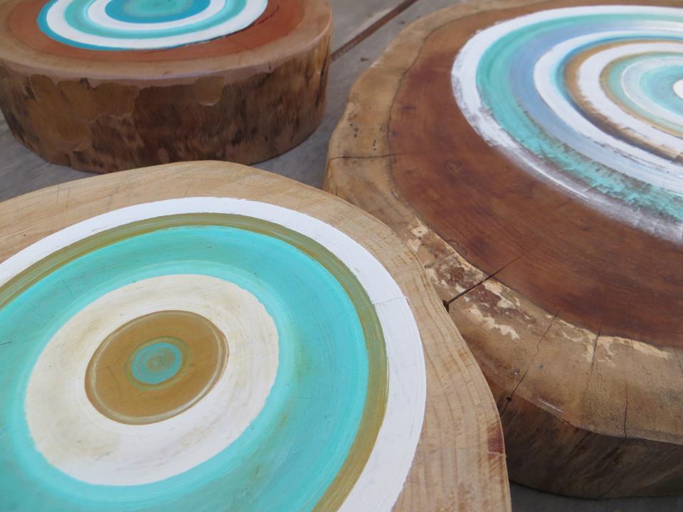 טבעות מצויירות לתלייה/ עיצוב השולחן