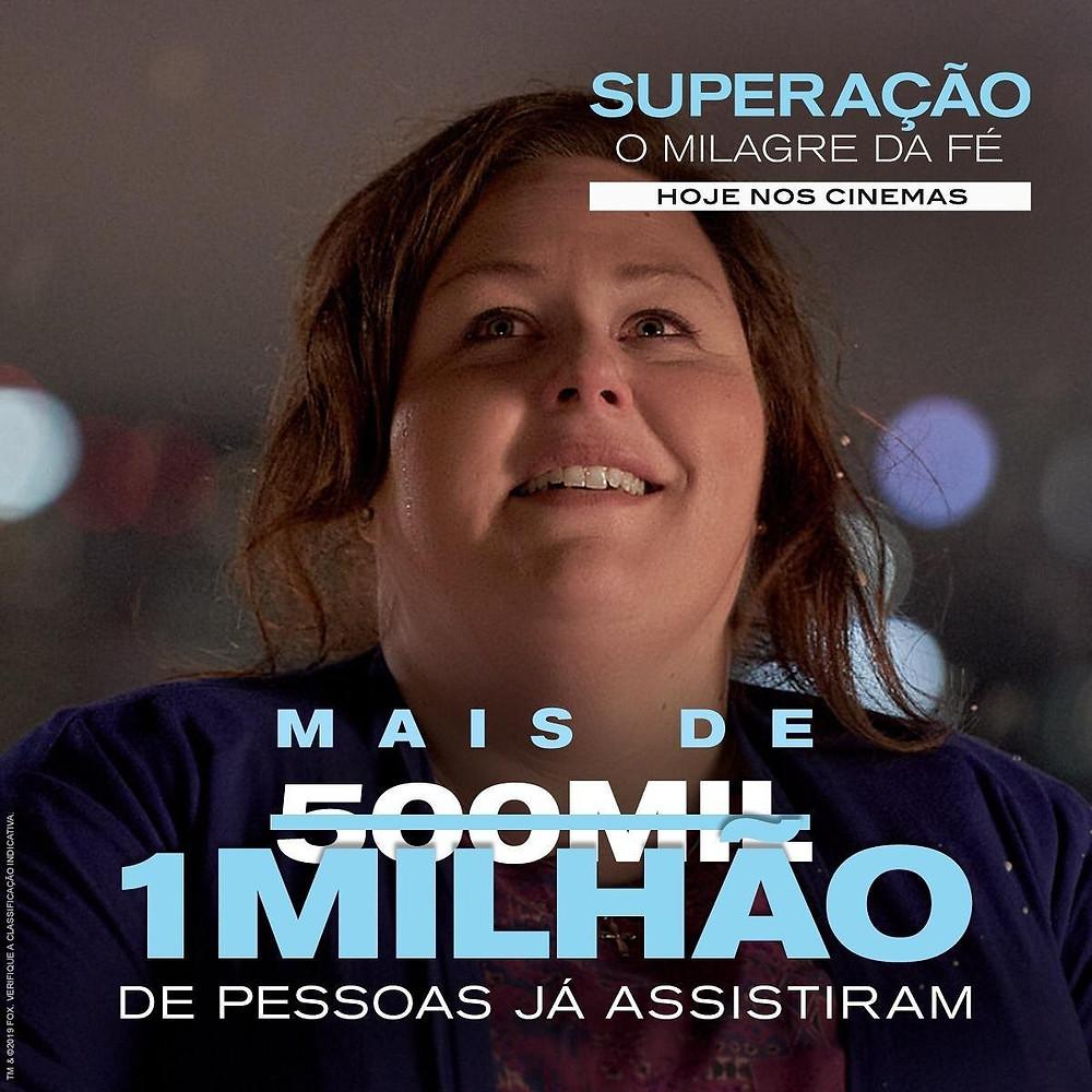 """1 milhão de pessoas assistiram o filme """"Superação, o milagre da fé"""""""