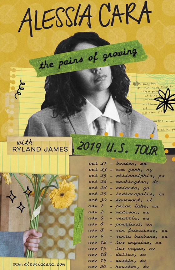 """Alessia Cara announces """"The Pains of Growing"""" US tour with Ryland James"""