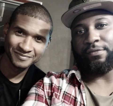 Sebastian Kole & Usher in the studio