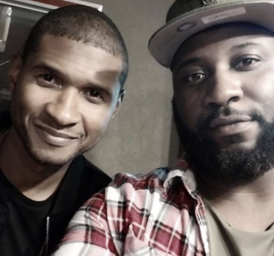 Sebastian Kole & Usher in the studio