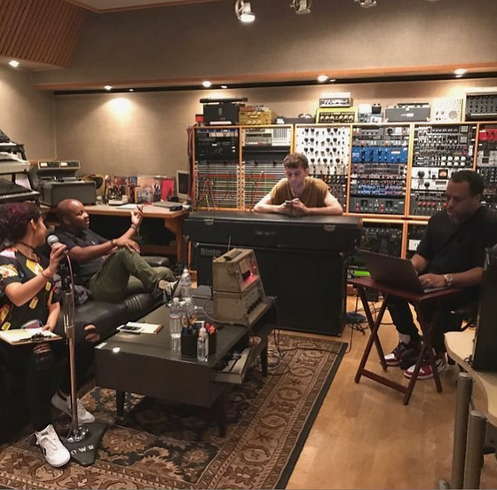 Alessia Cara in the studio with Cuban Soze & Tab Nkhereanye