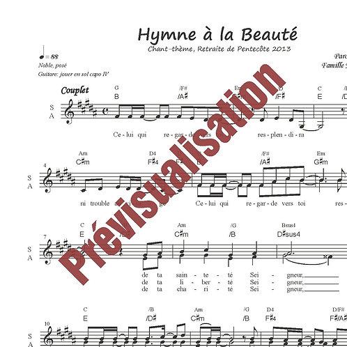 Hymne à la Beauté