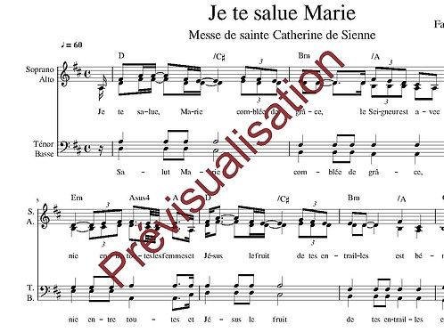 Je te salue Marie (Messe de Ste Catherine de Sienne)