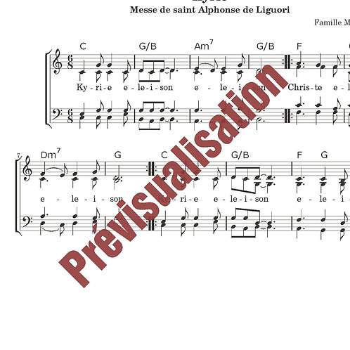 Kyrie (Messe de St-Alphonse)