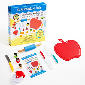 My First Cooking Tools - Kid Safe Knives & Snack Making Set for Little Chefs