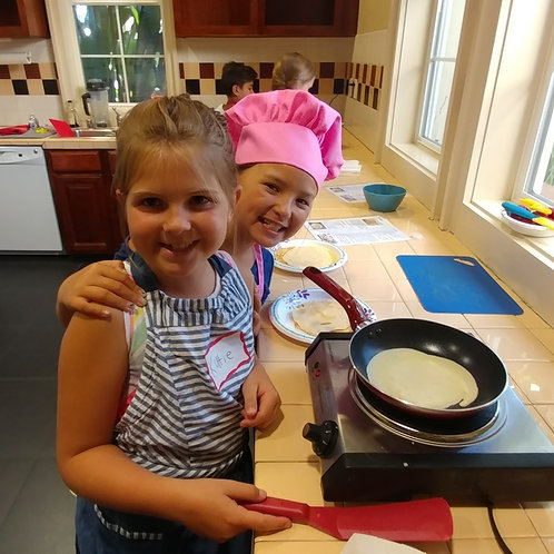 Cooking Basics - 1st-5th grade  Wednesdays:   Jan. 23, 30, Feb. 6 / 3:30-4:45