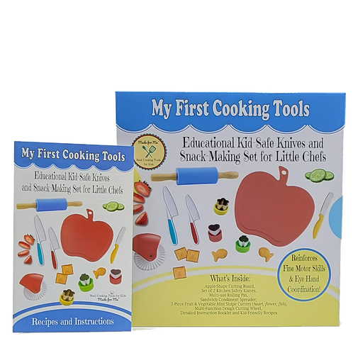 My First Cooking Tools - Educational Kid-Safe Knives & Snack Making Set